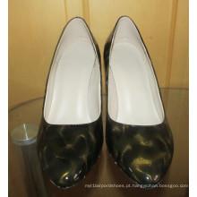 Moda meados de salto alto dedo apontado vestido sapatos (hcy02-1673)