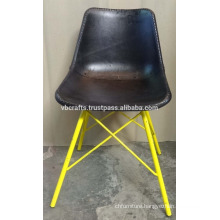 vintage industrial leather chair