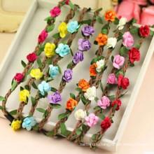 Праздничная вечеринка Свадебная цветочная лента для цветов (HEAD-313)