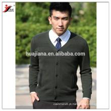 V neck man cashmere tricô sweater cardigan