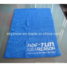 Toalla de insignia bordado de microfibra de secado rápido (SST0281)