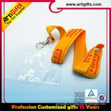 Longe de strass de polyester imprimé par vente chaude de haute qualité avec le support d'insigne d'id
