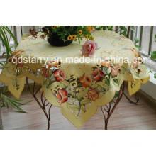 Tulip Design Yellow Fabric Tablecloth St1758