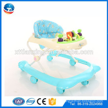 Factory Multi-function Plastic 8 wheels folding round baby walker/New model cheap kids children walker OEM