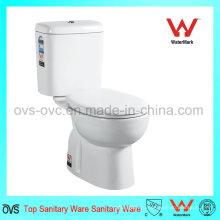 Китайский производитель туалетных принадлежностей Два куска фарфора Санитарная посуда Шкаф для одежды Двухсекционный керамический туалет