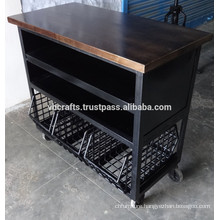 Industrial Kitchen Trolley Case with Wheels