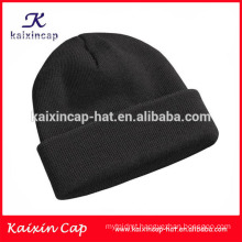 Plain black winter beanie cap/beanie hat