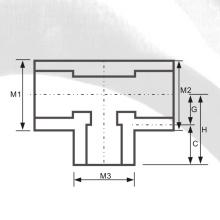 ASTM SCH80 UPVC Tee de redução Cor cinza escuro