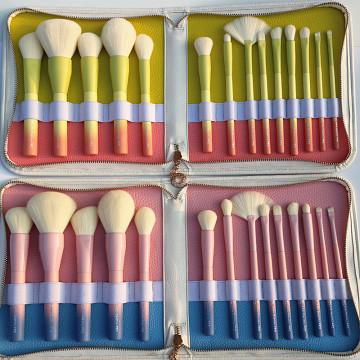 Pincéis de maquiagem de cores gradientes 14pcs definidos Ferramentas de maquiagem