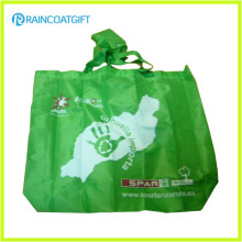 Promocionais 210t poliéster Folding Shopping Bag RGB-023