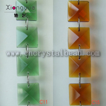 DL13 glass square Crystal Beaded Chain