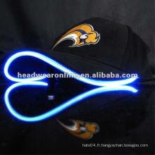 Capuchon à fibre optique LED Caps réglable Hat Sports