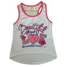 Schöne süße Mädchen stricken Weste in Kinder Mädchen T-Shirt mit Leibchen (SV-027)