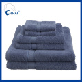 100% Cotton Solid Color Bath Towel Towel Sets (QH9007)