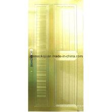Portes pleines d'aluminium en couleur dorée
