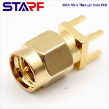 STA SMA Male Through Hole PCB Mount connector