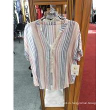 Модная женская полосатая блузка