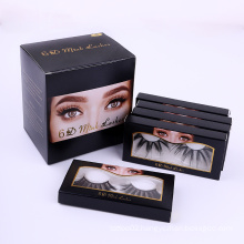 Strip Mink Eye lash Vendors Free Sample Wholesale 6D Custom Private Label 3d Hand Made 25mm Eye lashes