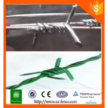 Alibaba Kunststoff Rasiermesser Stacheldraht / Einzelstrang PVC beschichtet Draht / PVC beschichtet Stacheldraht