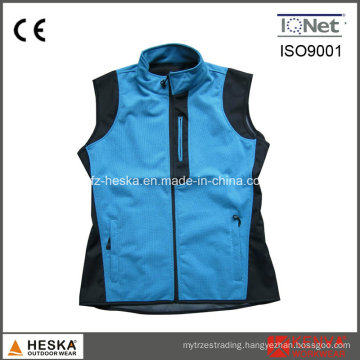 Fashionable Outdoor Knitted Softshell Waistcoat