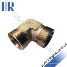 Connecteur de tube hydraulique d'adaptateur mâle métrique de coude 90 (1C9)