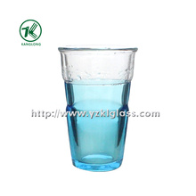 Blue Double Wall Glass Bottle (8.5*6*13.5 345ml)