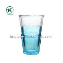 Голубая стеклянная бутылка с двойными стенками (8.5 * 6 * 13.5 345ml)