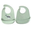 Wasserdichte Silikonlätzchen in Lebensmittelqualität für Babylätzchen