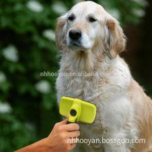 Wholesale pet grooming tool self cleaning slicker brushes pet grooming brush