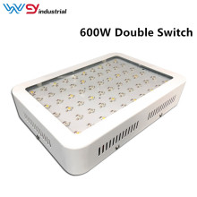 Luz de cultivo LED de doble interruptor de 600W