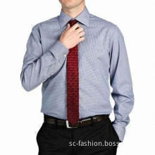 Men's dress/business shirt, convertible cuff, made of 100% cotton fabric, easy to iron