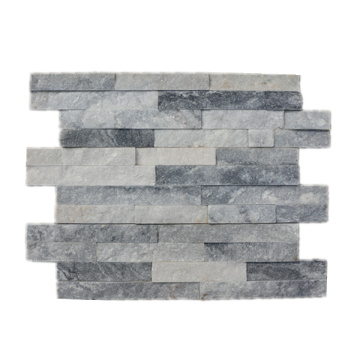 Chapa de Sidding de la pared de piedra natural gris de los 10 × 40cm