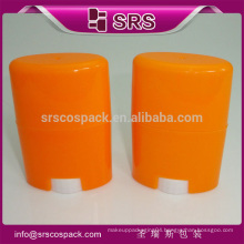 Round plastic container, and plastic 75ml deodorant container for cosmetic compacts
