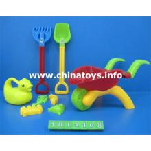 Brinquedo plástico do jogo do carro da praia. Balde de praia de brinquedo de verão, pá (1014408)