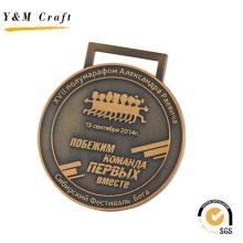 Hochwertige Metall-Medaille mit Logo (Q09546)