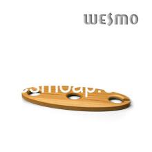 Sostenedor y carrito de botellas de vino de bambú