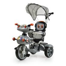 Popular Triciclo del bebé del robot de la historieta con el sostenedor de la taza (SNTR857-6 GRIS)