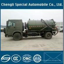 Dongfeng Armee-Grün 4X4 Spetic Behälter-Vakuumabsaugungs-Abwasser-LKW