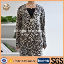 Leopard gedruckt Großhandel Kaschmir Mantel