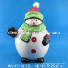 High quality Ceramic container seal with christmas snowman design