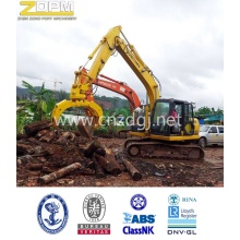 Excavator mechanical wooden hydraulic grapple