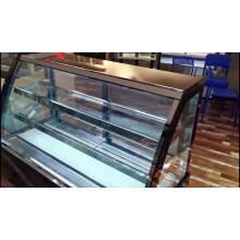 carga trasera puerta de vidrio exhibidor de bebidas escaparate refrigerador