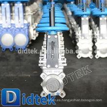 Válvula de la puerta del cuchillo de Didtek SS