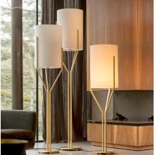 Hotel floor light luxury E27 gold color floor lamp