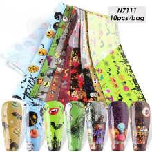 Wholesale Halloween Pattern Transfer Paper Nail Foil Nail Art Sticker