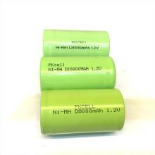 Tamaño de la batería recargable Ni-mh D 10000 Mah