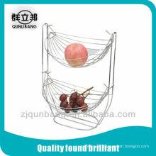 Cesta de frutas de berço de 2 camadas, titular de frutas, cesta de vegetais
