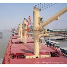 Grue hydraulique utilisée par navire avec le certificat d'ABS