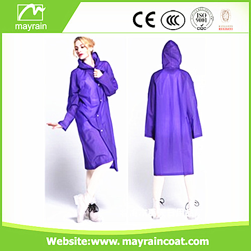 Breathable PVC Raincoat for Selling