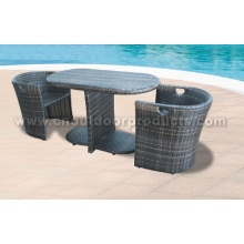 Outdoor Wicker Rattan Table and Chairs